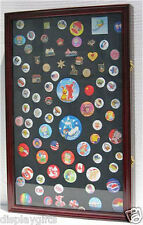 LARGE Lapel Pin Medal Buttons Patches Ribbon Display Case Shadow Box, PC04-CH