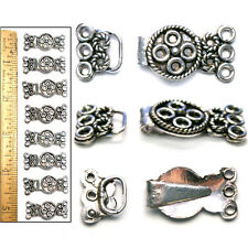 """1 1/4"""" Bali Style Antiqued Sterling Silver Pl Filigree Multi-Strand Clasps 8pc"""