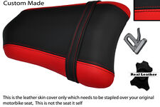 RED & BLACK CUSTOM FITS DUCATI 749 999 REAR PILLION PASSENGER LEATHER SEAT COVER