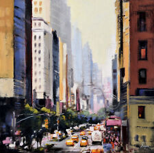 New York Taxi 4 by Robert Seguin Art Print NYC Cityscape City Poster 26x26