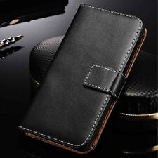 Genuine Leather Wallet Stand Case Cover For Motorola Moto X Style / Pure Edition
