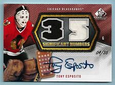 PHIL ESPOSITO 2010/11 SP GAME USED SIGNIFICANT NUMBERS JERSEY AUTOGRAPH AUTO /35