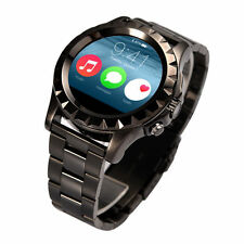 S2 Smart Watch Heart Rate Waterproof Bluetooth Black+Steel For iOS Android WOR