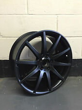 "19"" MATT BLACK CLASSIC 63EE Alloy Wheels 5/112 ET45 STAGGERED FITS,AUDI,MERCEDES"