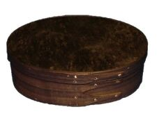 Shaker Music Box with Walnut Bands and Circassian Walnut Burl Top, Lacquer Finis