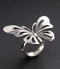 Georg Jensen Sterling Silver Butterfly Ring # 563. Regitze Overgaard, NEW.