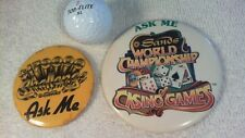 Sands Casino buttons , Two old buttons in Great Condition,Atlantic City, NJ.