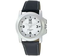 Q&Q Q604J304Y Mens Dress Watch Silver Tone Water Resistant Wristwatch New