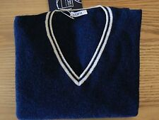 Nwt: Fedeli cashmere-women 's navy cashmere tennis sweater taille 42 (uk 10/m)
