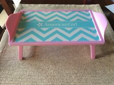 """American Girl breakfast in Bed Tray table stand pink blue NEW 18"""" doll"""