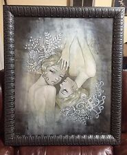 "Audrey Kawasaki ""Two Sisters"" FRAMED oversized edition super rare!"