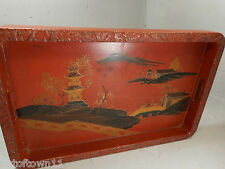 Red Lacquered Japanese Tray    ref 1157