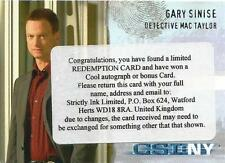 Csi new york series 1 auto redemption card CSI-NY-A1 gary sinise comme mac taylor