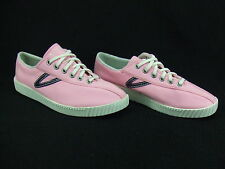 Tretorn Pink W/ Navy Blue Nylite Canvas Sneaker Tennis Shoe Wmns. Sz. 9 NWOB t