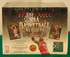 1992/1993 UD High Series Jumbo Basketball Factory Sealed Box--20 Packs