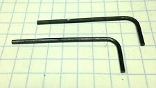 "TWO 1/16"" Hex Keys /  ALLOY STEEL - SHORT Arm Allen Wrenches - INCH/SAE  USA"