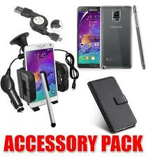 ACCESSORY BUNDLE KIT FOR SAMSUNG GALAXY NOTE 4 + CASE CAR HOLDER CHARGER