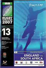 ENGLAND v S AFRICA RUGBY WORLD CUP 2007 POOL A PROGRAMME - MATCH No 13