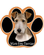 Wire Fox Terrier Dog Paw Shaped Computer MOUSE PAD Mousepad