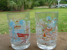 2 Walt Disney Studios Remember The Magic Glass Tumber w Theme Park Artwork