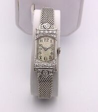 Ladies Platinum 1920's International Schaffhaussen Diamond Watch, 14K Bracelet