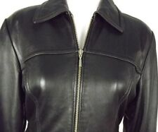 Motorcycle Black Leather Jacket Size Small Express Womens Zippered