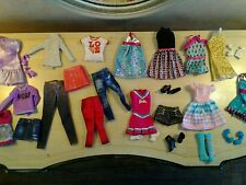 Barbie Doll Clothes Lot Dresses Jeans Skirts Shirts Shoes Boots Cheerleader