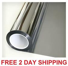 One Way Reflective Daytime Privacy Mirror Window Film All Silver 5 36in x 12ft