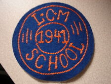 Original WW2 US LANDING CRAFT MAINTENANCE SCHOOL Patch - 1941