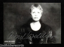 ASTRID KIRCHHERR-Beatles related Hamburg Days-RARE SIGNED 4x6 POSTCARD AUTOGRAPH
