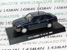voiture 1/43 Italiennes hachettes : ALFA ROMEO 75 1.6 I.E 1988