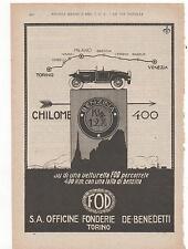 Pubblicità vintage BENZINA FOD AUTO TORINO advert reklame werbung publicitè B7