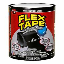"Flex Tape Black 4"" x 5' New Market, Free Shipping, No Tax Charged"