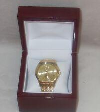 Timepieces by Randy Jackson MENS SWISS Gold Tone Bracelet Watch NEW