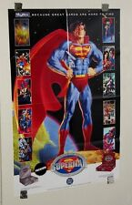 1994 Superman Skybox trading card promo poster: JLA/Wonder Woman/Batman/Doomsday