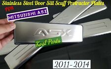Mitsubishi ASX Stainless Steel Door Sill Scuff Protractor Plates for 2011-2014