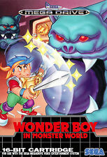 Wonder Boy in Monster Land SEGA Genesis / Mega Drive Framed Print (Man Cave Art)