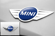 "Mini Cooper 1.75"" Inch Logo Emblems Decals x2 Vinyl Stickers for Badges DRK BLUE"