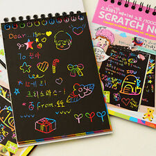 Kids Stationery Set Notebook Journal Stylus Scratch Paper Note Educational