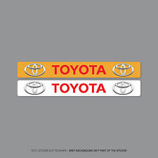 SKU2055 - Toyota Number Plate Dealer Logo Cover Stickers - 140mm x 18mm