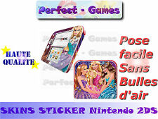 Skin sticker auto-collant vinyl Barbie n°2 pour console nintendo 2DS