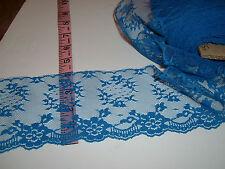"""4"""" wide Blue lace trim 5 yds"""