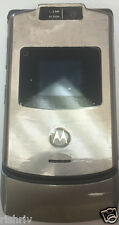 Motorola RAZR V3xx Platinum(Unlocked)Mobile Phone 2G-Same Day Dispatch-UK SELLER
