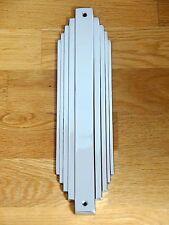 10 X CHROME ART DECO FINGER DOOR PUSH PLATES FINGERPLATE