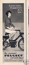 Publicité Advertising 066 1965 Peugeot cyclomoteur  par Couronne