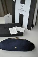 NEW AUTHENTIC ANYA HINDMARCH MAUD NAVY Celebrity  Clutch Bag  £475 Boxed GIFT