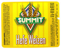 Summit Brewing HEFE WEIZEN beer label MN 12 oz NO UPC Var. #2