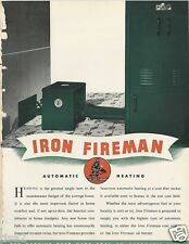 1945 IRON FIREMAN Boiler Stokers Heatmaker Furnace Unit ASBESTOS History Catalog