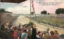 Watching the Auto Races From Sears, Illinois State Fair, Springfield IL 1915