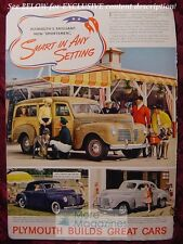 PLYMOUTH Sportsmen automobile ad 1940